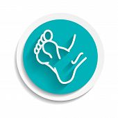 Foot Icon Vector Leg Symbol Human Illustration