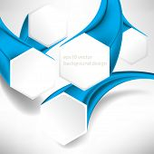 eps10 vector three-dimensional hexagon frame business background
