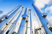 giant gas-pipes, pipelines inside refinery industry