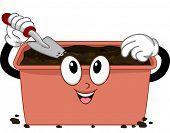 Mascot Illustration Featuring a Compost Bin