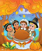 Thanksgiving pilgrim theme 6 - eps10 vector illustration.