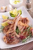 foto of lamb chops  - grilled lamb chop - JPG