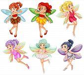 Illustration of beautiful fairies