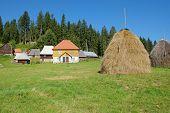 haystack and Kamena Gora village, Serbia