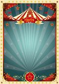 cream retro circus background. A retro circus poster for your entertainment.