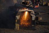 scrap metal cutting with gas welder