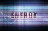 Energy on a Tech Business Chart Art