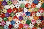 Colorful crochet doily