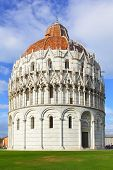 Baptistery on Piazza dei Miracoli in Pisa, Italy