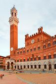 Campo Square and Tower in Siena, Italy
