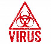 Red Stamp on a white background - Virus