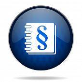 law internet blue icon