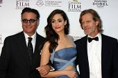AVALON - SEP 27:  Andy Garcia, Emmy Rossum, William H. Macy at the Catalina Film Festival Gala at the Casino on September 27, 2014 in Avalon, Catalina Island, CA