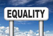 equality no difference equal rights and opportunities no discrimination