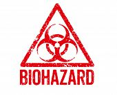 Red Stamp on a white background - Biohazard