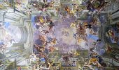 ROME, ITALY - SEPTEMBER 22, 2014: Amazing fresco by Andrea Pozzo at the Church of St. Ignatius of Loyola at Campus Martius in Rome.