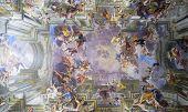 ROME, ITALY - SEPTEMBER 22, 2014: Amazing fresco by Andrea Pozzo at the Church of St. Ignatius of Lo