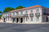 Lisbon, Portugal. August 24, 2014: National Coach Museum aka Museu Nacional dos Coches in Belem, Lis