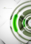 Futuristic rings technology abstract modern abstract background