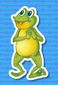 Illustration of a close up frog