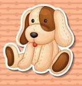 Illustration of a stuffed animal dog