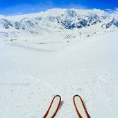 Skiing - ski slopes in Italian Alps