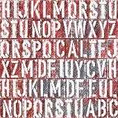 Old letterpress type background, vector