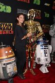 LOS ANGELES - SEP 27:  Meredith Salenger, C3PO at the