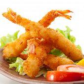 Japanese Cuisine - Ebi Tempura with Vegetables