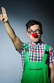 Funny clown saluting like Nazi