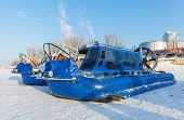 Hovercraft On The Ice Of The Frozen River