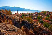 Digital Painting Of The Village Of Kapikiri Beside Lake Bafa, Turkey