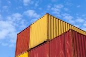 Colorful Metal Industrial Cargo Containers