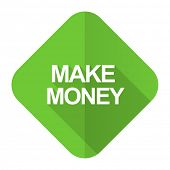 make money flat icon