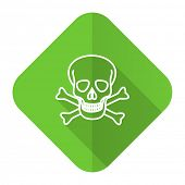 skull flat icon death sign