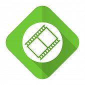 film flat icon movie sign cinema symbol