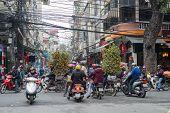 Hanoi traffic before the Chinese New Year