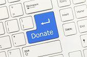 White Conceptual Keyboard - Donate (blue Key)