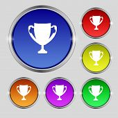 foto of trophy  - Winner cup sign icon - JPG