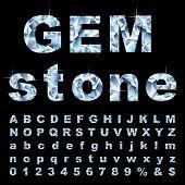 vector gemstone alphabet