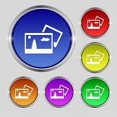 Copy File Jpg Sign Icon. Download Image File Symbol. Set Colourful Buttons. Modern Ui Website Naviga