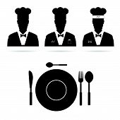 Chef Cook Man Vector Silhouette