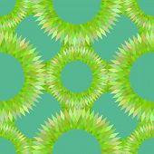 stylized sea urchin seamless pattern vector