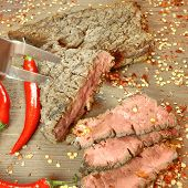 Grilled Bbq Pepper Steaks