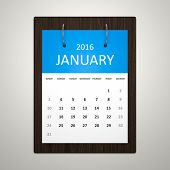 An image of a stylish calendar for event planning january 2016