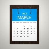 An image of a stylish calendar for event planning march 2016