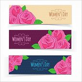 Banners for Women Day.