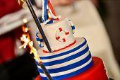 Happy Wedding Day Navy Cake