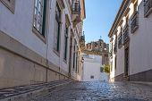 Europe, Portugal, Algarve, city of FARO - Traditional street view
