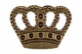 Crown, Headdress Of Monarch, Decorative Element, Isolated On White Background